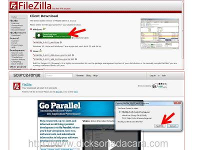 Cara Upload File dengan menggunakan FIlezilla